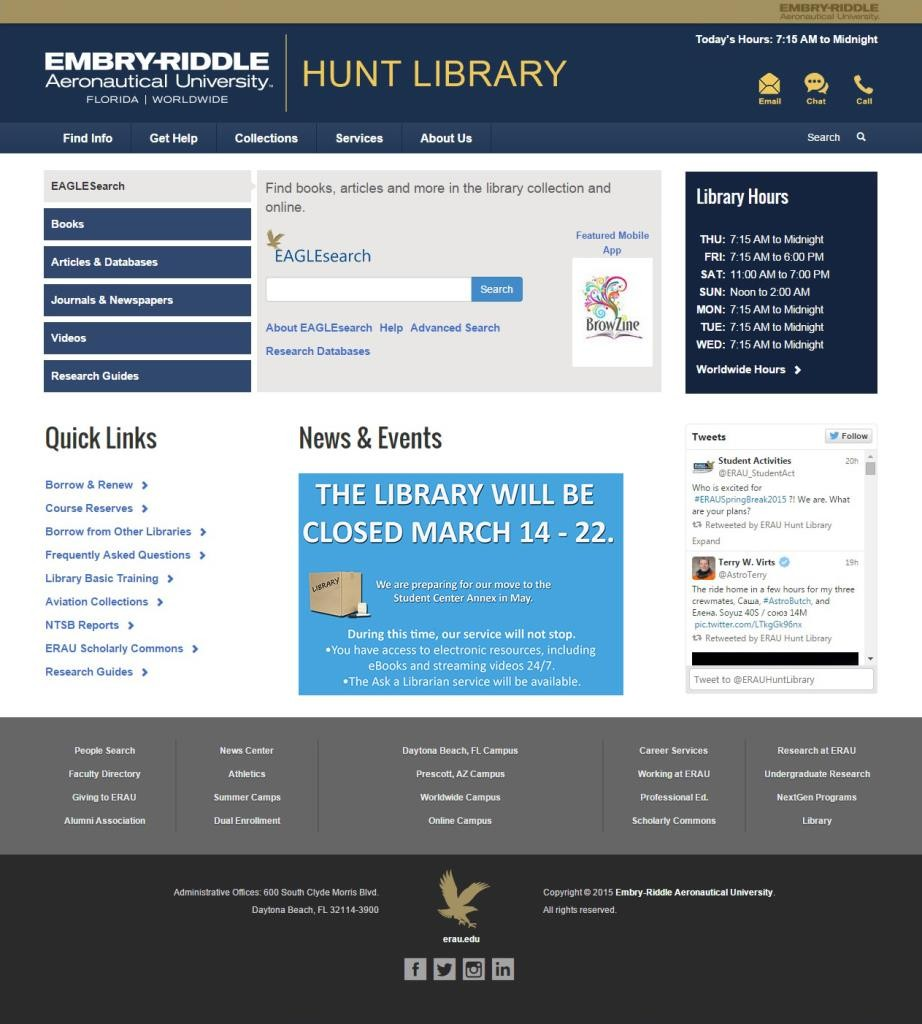 Hunt Library Website (Pre-Launch)