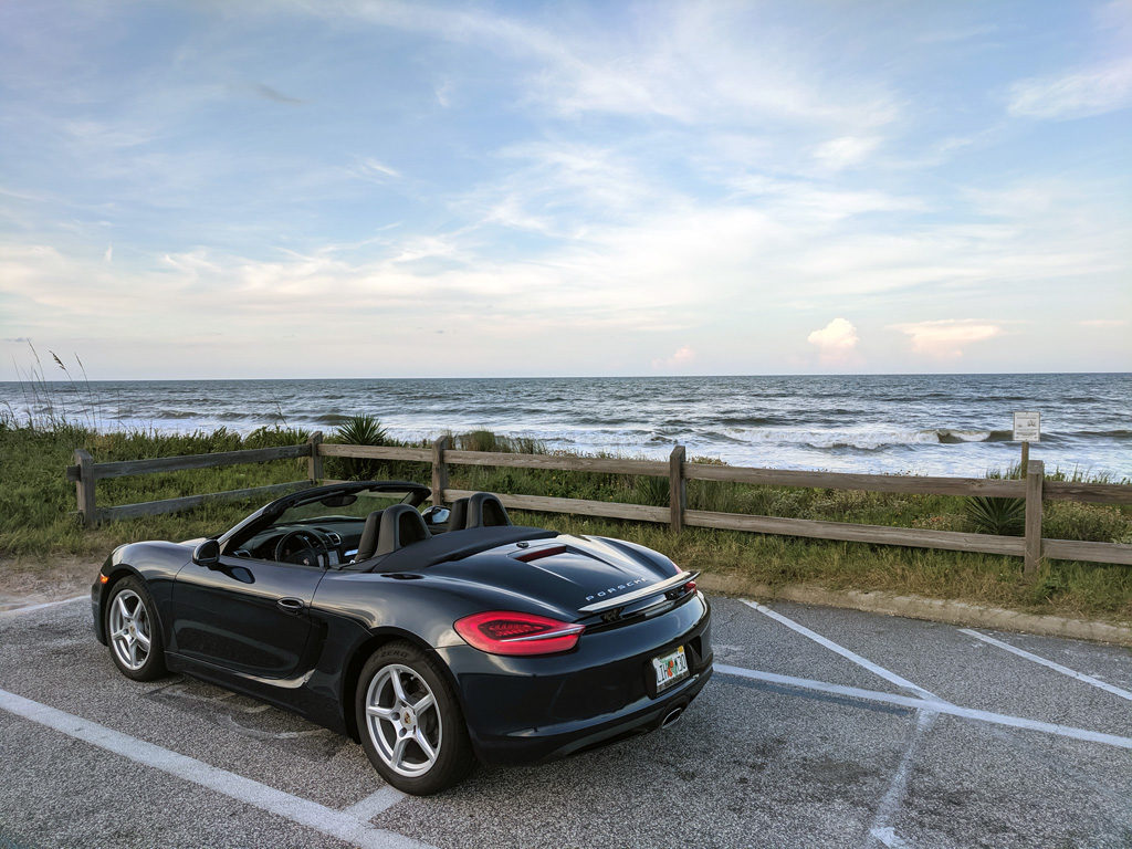 Porsche Boxster by the Ocean