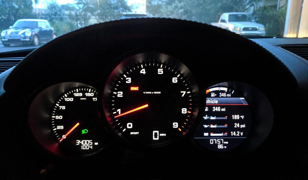 Porsche Boxster Dash