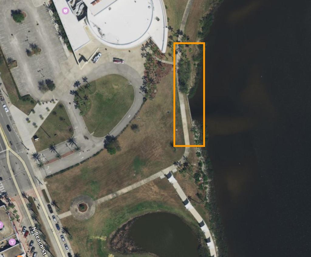 Riverfront Park Cleanup Map