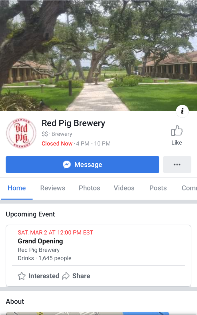 Red Pig Brewery Grand Opening Event