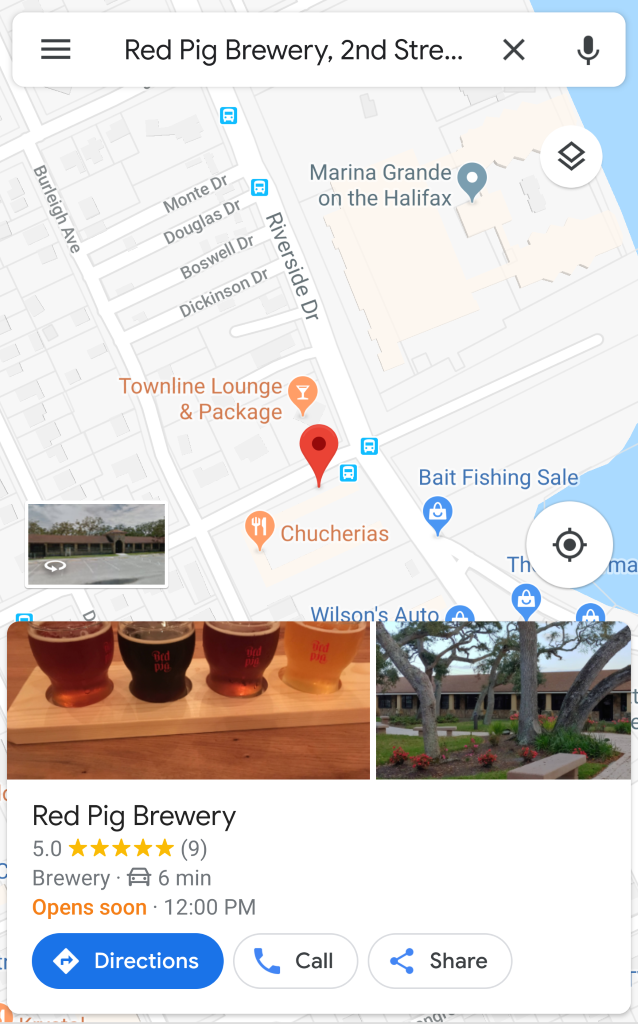 Red Pig Brewery Map