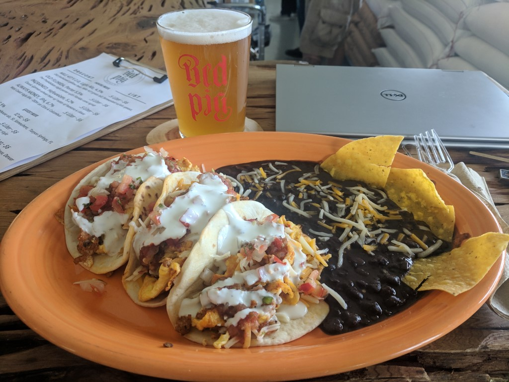 Red Pig Brewery Tacos