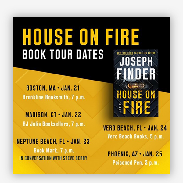 Joseph Finder Book Tour Dates