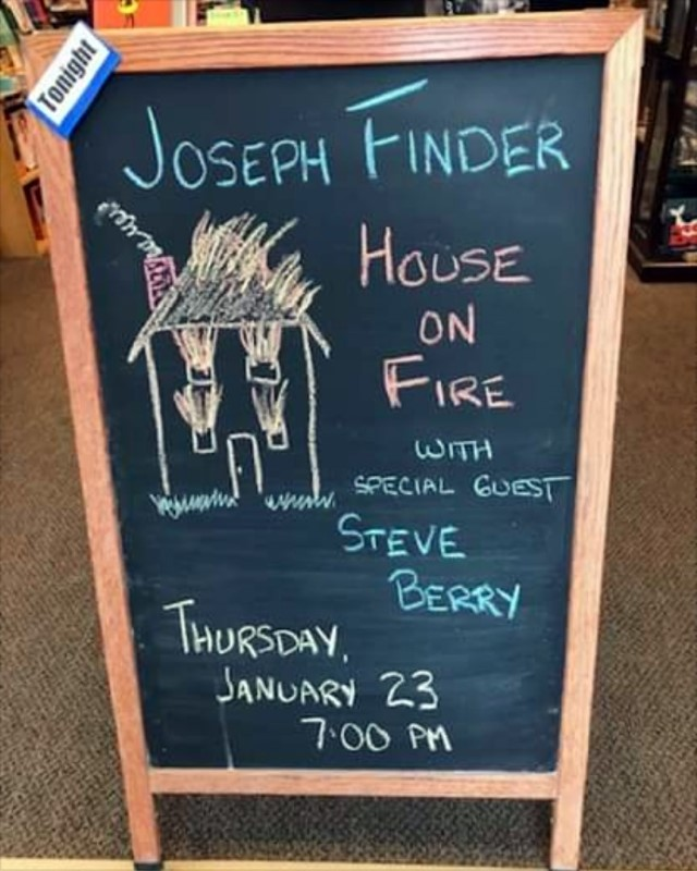 Joseph Finder Event Sign