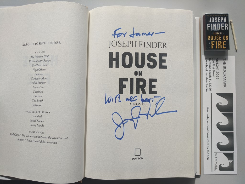 House on Fire signed by Joseph Finder