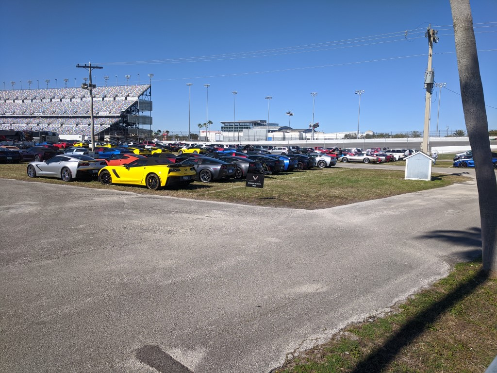 Corvette Car Corral at the 2020 Rolex 24 at Daytona