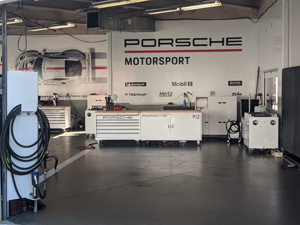 2020 Rolex 24 at Daytona Porsche Garage