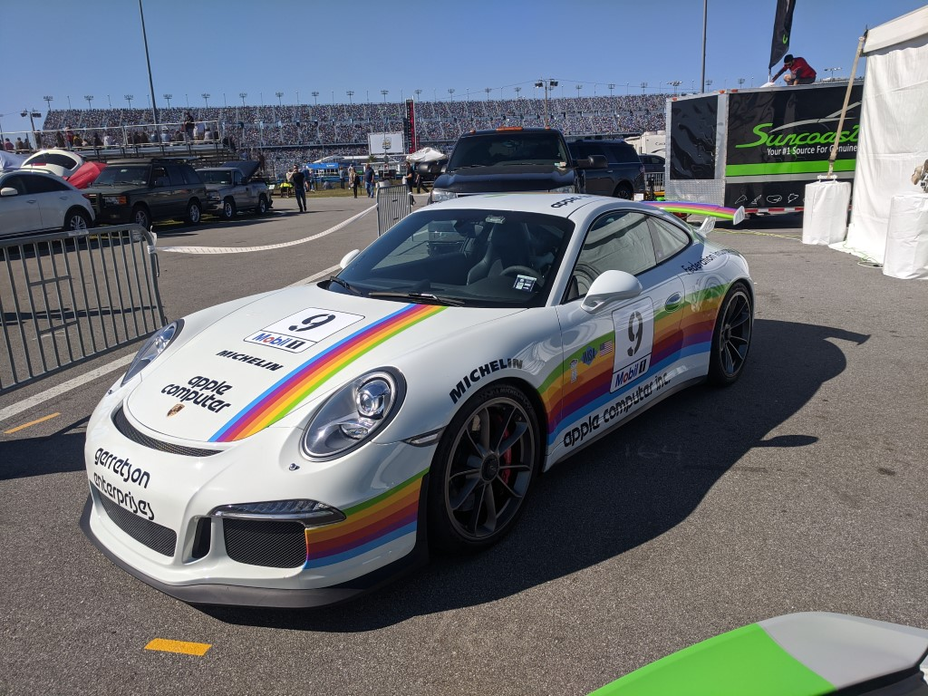 Apple Computer Porsche at the 2020 Rolex 24 at Daytona