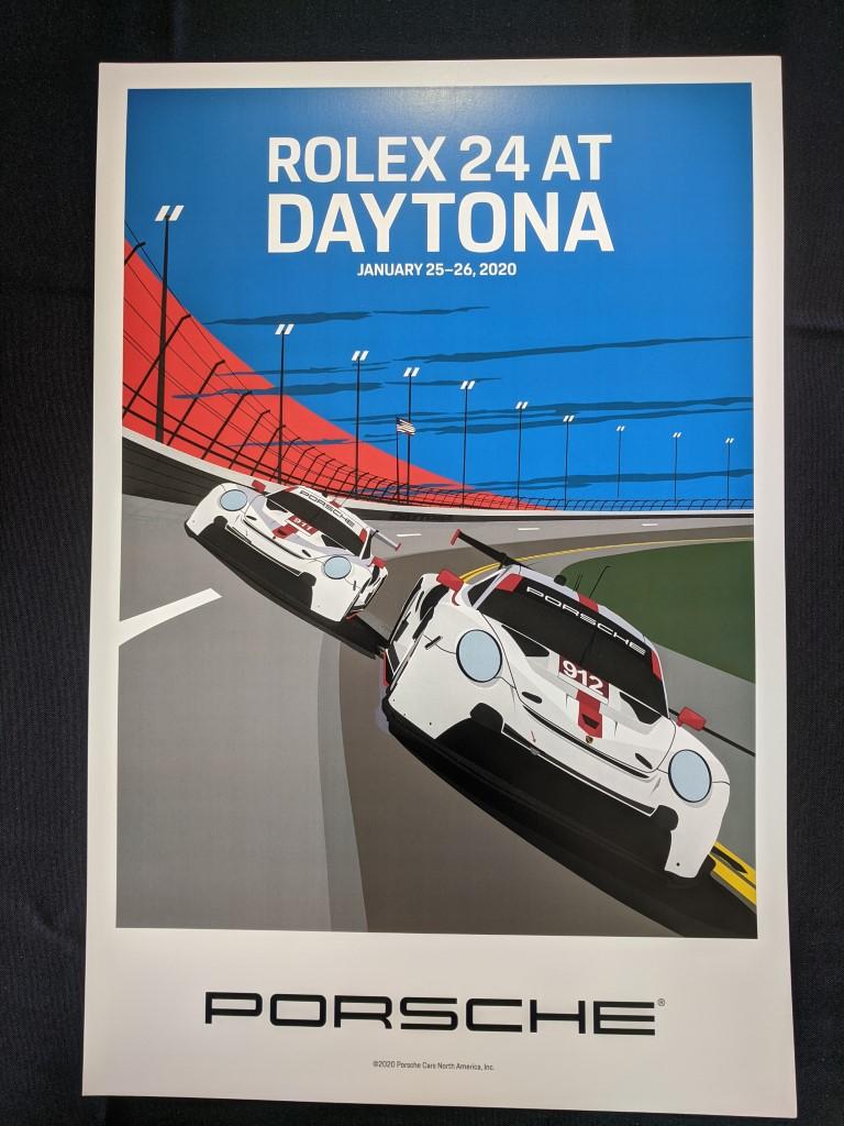 2020 Rolex 24 at Daytona Porsche Poster