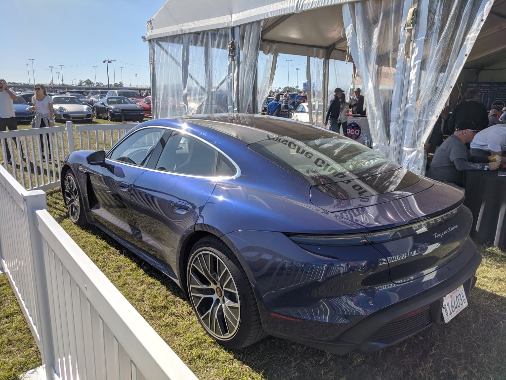 Porsche Taycan at the 2020 Rolex 24 at Daytona