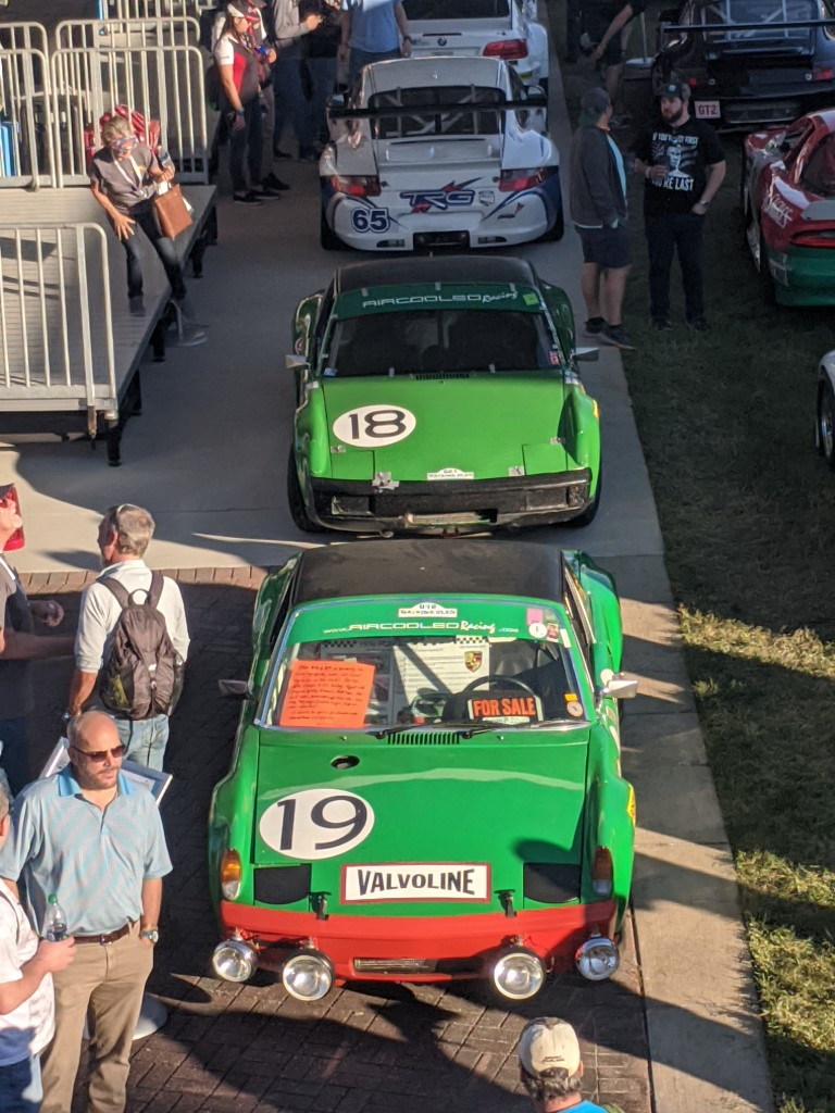 Vinatge racing Porsches at the 2020 Rolex 24 at Daytona