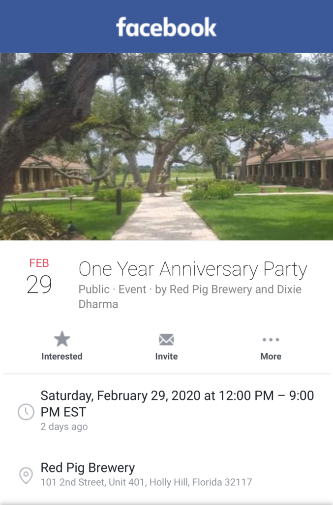 Red Pig Brewery One Year Anniversary Event