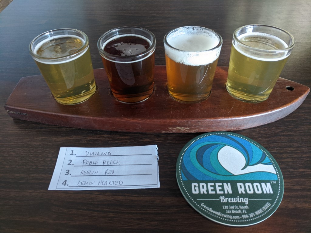 Green Room Brewing Beers