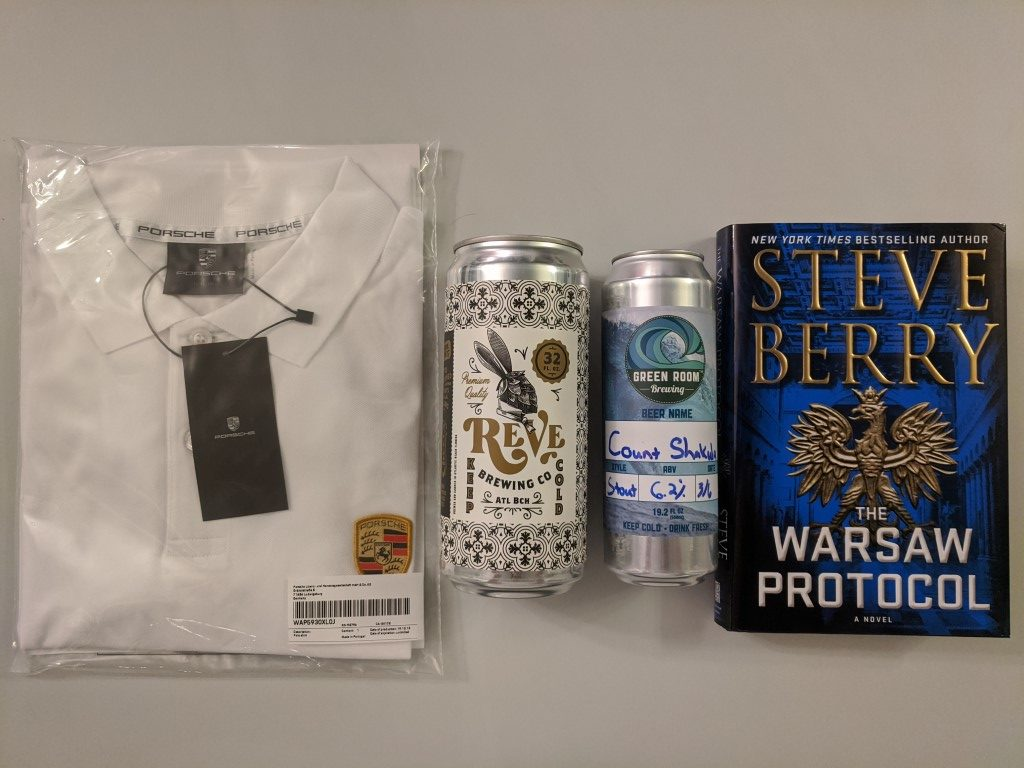Shirt, Beer, and Book