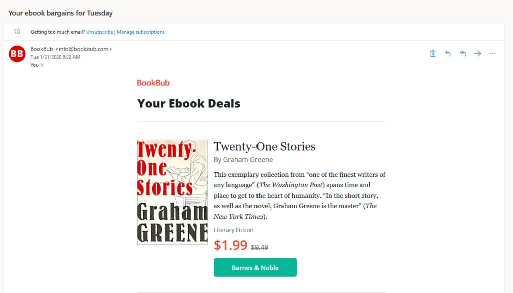 BookBub Email
