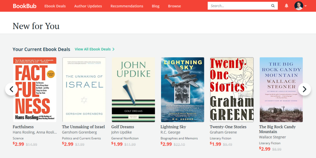 BookBub New for You